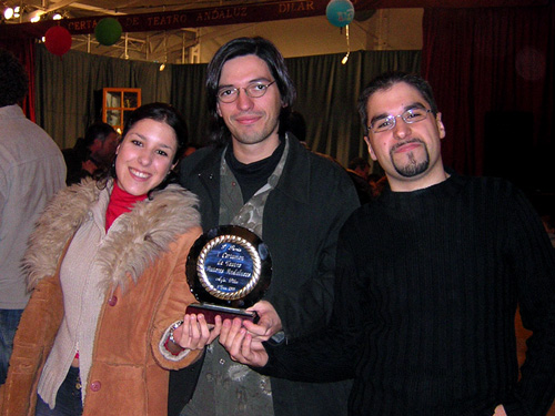 The cast receives the award