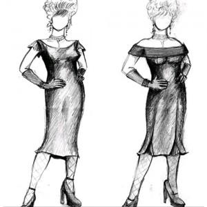Boceto de vestuario para Leona Carrington